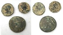Ancient Coins - LOT OF 3 ANCIENT BRONZE COINS