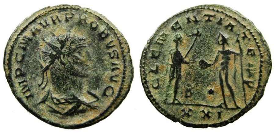 Ancient Coins - PROBUS AE antoninianus. Antioch mint. CLEMENTIA TEMP