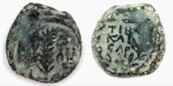 Ancient Coins - Judaea,Valerius Gratus, 15 - 26 AD. Under Tiberius. AE Prutah.VF