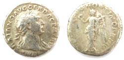 Ancient Coins - Trajan AD 98-117 AR Denarius Rx. Victory