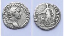 Ancient Coins - ARABIA, Bostra. Trajan. AD 98-117. AR Drachm. Dated RY 16, Cos. 6 (AD 112). R/ ARABIA
