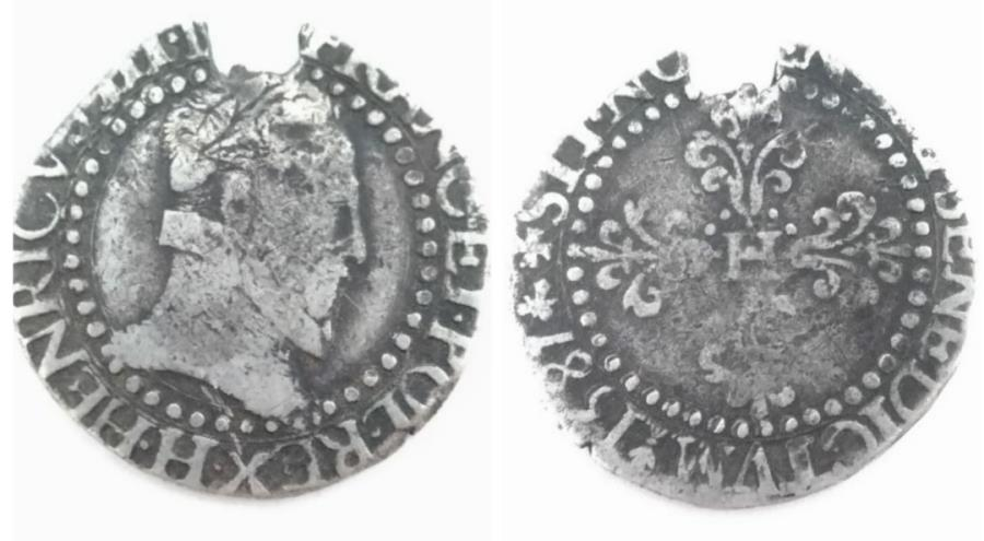 World Coins - FRANCE. Henri III, 1574-1589 AD. AR DFranc