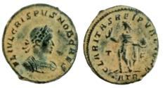 Ancient Coins - Crispus. Caesar, A.D. 317-326. Æ follis. Treveri, A.D. 317.