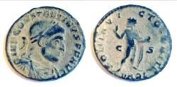Ancient Coins - Constantine I 307-337 A.D. Follis Arles Mint EF