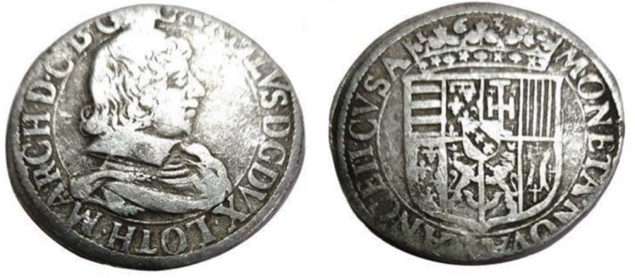 World Coins - FRANCE.Duchy of Lorraine.Charles IV 1st period 1624-1635.AR.Teston 1632.