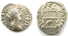Ancient Coins - Diva Faustina II. AR Denarius. Rome, AD 176-180.