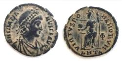 Ancient Coins - Gratian. A.D. 367-383. Æ (18.8 mm, 2.3 g). Antioch.VF