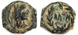 Ancient Coins - NABATAEA. Aretas IV. 9 BC-AD 40. Æ Quadrans . Rare