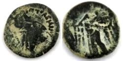 Ancient Coins - NABATAEA. Anonymous issues. Circa 135/04-9 BC.  Over struck Ptolemaic coin.