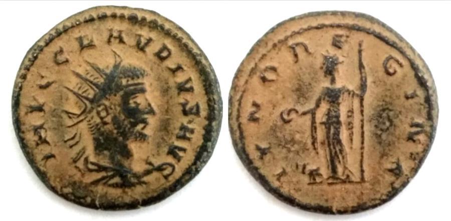 Ancient Coins - Claudius Gothicus AD 268-270. Antioch Antoninianus Æ