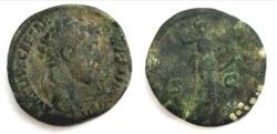 Ancient Coins - Marcus Aurelius. As Caesar, AD 139-161. Æ Sestertius (32mm, 23.98 g, 12h). Rome mint
