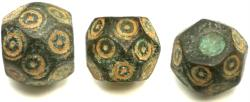Ancient Coins - Polygonal Islamic - Byzantine weight with 20 small sides and flat top bottom.