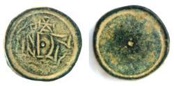 Ancient Coins - Byzantine Bronze Circular weight 400-600 AD.