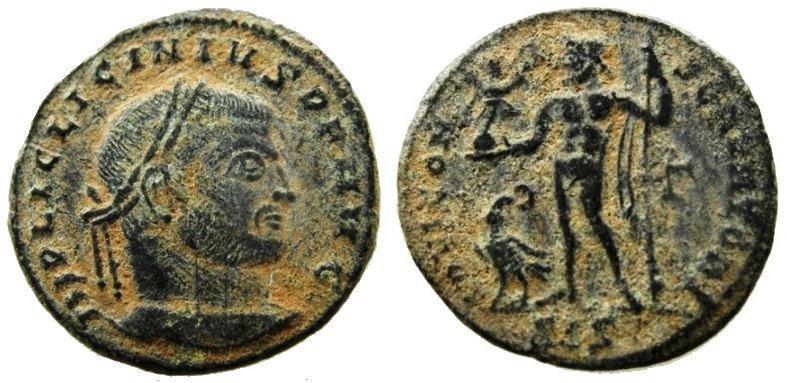 Ancient Coins - Licinius I. AE Follis. Date Struck 311 AD. ORIGINAL DESERT PATINA