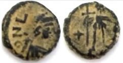 Ancient Coins - Leo I, AE .Constantinople, AD 457-474.As found
