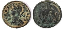 Ancient Coins - Commemorative Series. AD 330-354 .URBS ROMA.