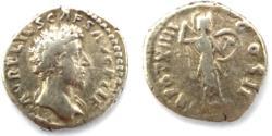 Ancient Coins - Marcus Aurelius, Caesar, 139-161, Denarius 159-160. Rome