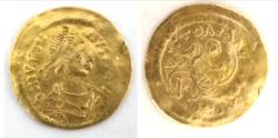Ancient Coins - Justin I (518-527). GOLD Semissis. Constantinople.