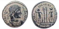 Ancient Coins - Constantine I AE. Mintmark SMANTA (unlisted officina). Very rare with Mintmark SMANTA.R5