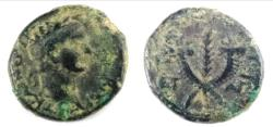 Ancient Coins - Trajan. Æ 19 (5.8 g), AD 98-117, Tiberias in Galilaea.