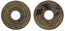 World Coins - Palestine, 5 Mils, 1935, EF(40-45), Copper-nickel, KM:3