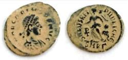 Ancient Coins - Arcadius Æ . Cyzicus, AD 388-392.