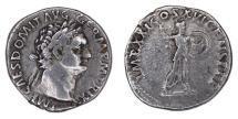 Ancient Coins - DOMITIAN AR Denarius. EF-/EF.