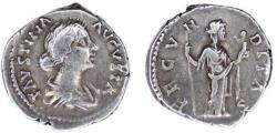 Ancient Coins - Faustina Minor (Marcus Aurelius, 161-180), Denarius, Rome, AD 161-175
