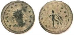 "Ancient Coins - Gallienus AE Antoninianus ""VIRTVS AVGVSTI Hercules, Club"".gVF"