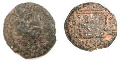 Ancient Coins - Judaea. Herodian dynasty. Herod Philip (4 BCE-34 CE). AE. 18.7mm, 6.0 g. Caesarea Panias mint