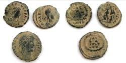 Ancient Coins - LOT OF 3 ANCIENT BRONZE ROMAN COINS