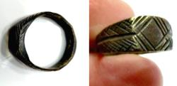 Ancient Coins - BEAUTIFUL ancient bronze ring 24.3x22 - mm. 6.1g