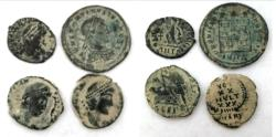 Ancient Coins - LOT OF 4 ANCIENT BRONZE COINS