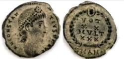 Ancient Coins - Constantius II AD 337-361. Antioch Follis Æ