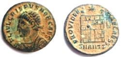 Ancient Coins -  Crispus Caesar Æ.Camp Gate. 326-327 AD.R3