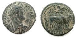 Ancient Coins - JUDAEA, Caesarea Maritima. Hadrian. 117-138. Æ