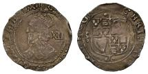 World Coins - Charles I Shilling mm (R) Tower Mint under Parliament, very rare