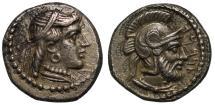 Ancient Coins - Cilicia, Tarsos, Datames, Silver Obol