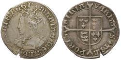 World Coins - Mary Tudor, silver Groat mint mark pomegranate