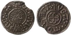 World Coins - Coenwulf of Mercia, portrait Penny, Canterbury group, moneyer Oba, EF45