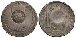 World Coins - Cromford 4/9 countermark Dollar