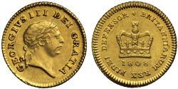 World Coins - George III 1808 Third-Guinea, third type