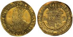 World Coins - Elizabeth I gold Pound, sixth issue, mint mark woolpack