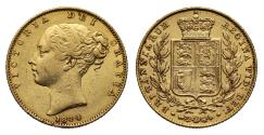 Ancient Coins - Victoria 1844 Sovereign, small 44
