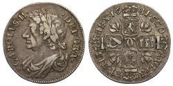 World Coins - Scotland, Charles II 1681 Quarter Dollar or Merk