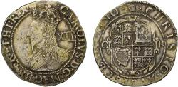 World Coins - Charles I Shilling, Tower group D, mint mark harp (1632-33)