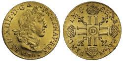 Ancient Coins - France, Louis XIV, 1670-D Louis d'Or, Lyon mint