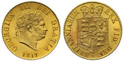 World Coins - George III 1817 Half-Sovereign