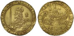 World Coins - Charles I 1643 gold Triple Unite Oxford Mint, rare die combination VI/L4