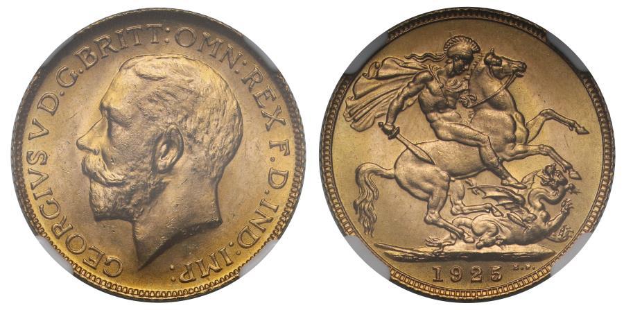 World Coins - George V 1925 Sovereign MS65